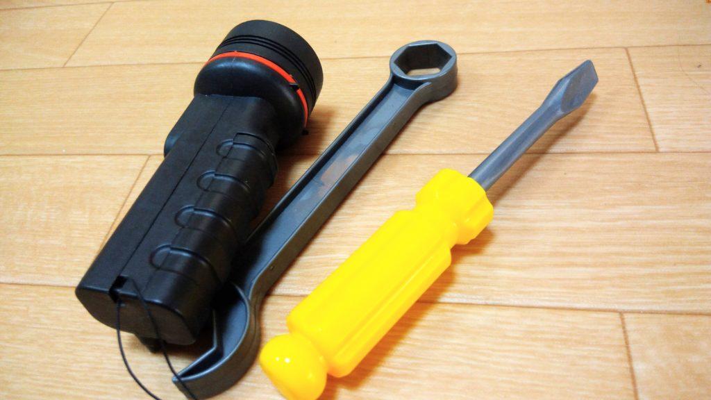 修理道具のおもちゃ