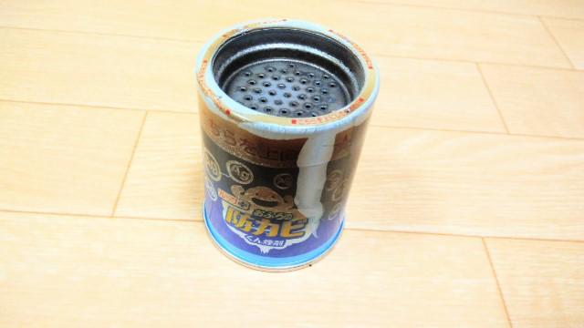 防カビくん煙剤使用後の缶